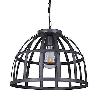 Industriële en retro opknoping hanghanger Antieke Zilver 1 Licht , E27