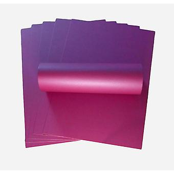10 Feuilles Wildberry Purple A4 Pearlescent Single Sided Card 300gsm