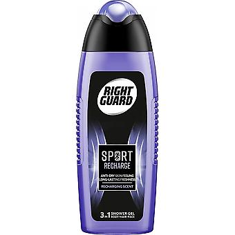 Right Guard 6 X Right Guard 3 In 1 Shower Gel For Men - Sport Recharge