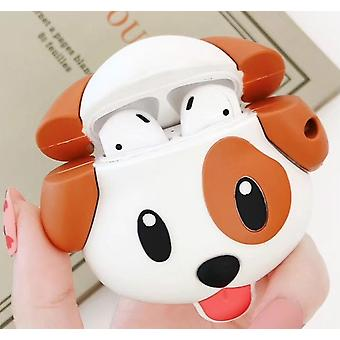 For Apple AirPods 1/2 Generation Universal Expression Dog Bluetooth Headphone Protective Case