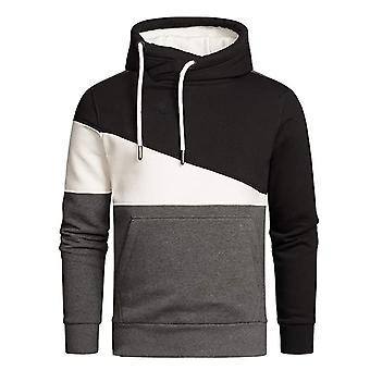 Allthemen Men's Casual Huppari Uutuus Värilohko Pullover Outwear