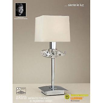 Akira Tafellamp 1 Lamp E14, gepolijst chroom met crèmeschaduw