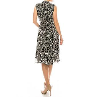 Zebra Print Sleevless Dress