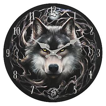 Anne Stokes Night Forest Wall Clock