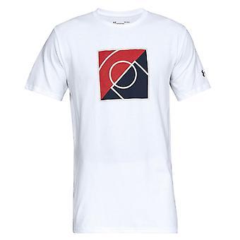תחת שריון גברים העליון של מפתח חולצת טריקו גרפיקה טי לבן 1317934 100