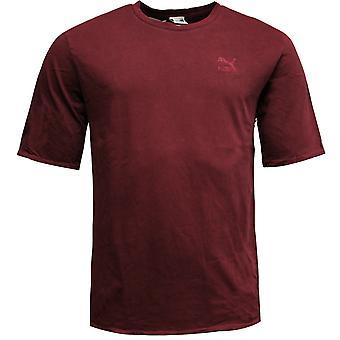 Puma Mężczyźni w trudnej sytuacji oversized T-Shirt Tee Top Burgundy 575307 01 A10B