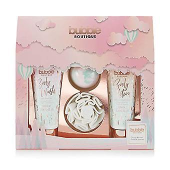 Style & Grace Bubble Boutique Gift of Glow Set 100ml Body Wash + 100ml Body Lotion + 80g Bath Fizzer + Shower Flower