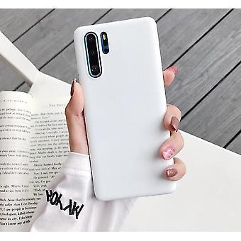 Solid Candy Kleur, Siliconen TelefoonHoesje Voor Huawei Smartphone, P Smart Plus