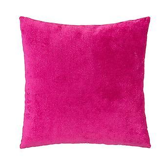 """Desire Velvet Decorative Square Pillow 18"""" X 18"""", Magenta"""