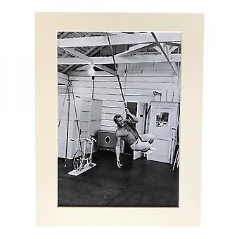 Larrini Mcqueen Rope Swinging Keeping Fit A4 Mounted Photo