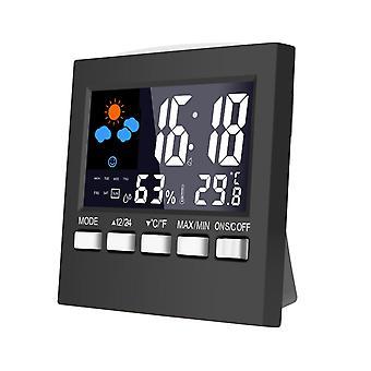 Dc-001 digitale temperatuur vochtigheid wekker klokken lcd weerstation display klok