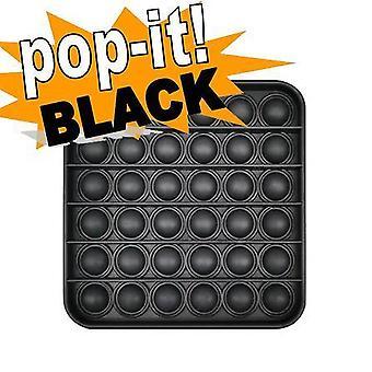 Pop It Fidget Toy Original - Black Square - CE Godkendt