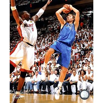 Dirk Nowitzki Game 6 of the 2011 NBA Finals Action Sports Photo