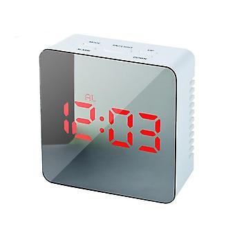 Hc-29 usb charging digital mirror cube led night mode snooze function thermometer alarm clock
