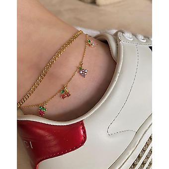 Tornozeleira da corrente de contas de verão, calçado vintage boêmio, pulseiras de perna