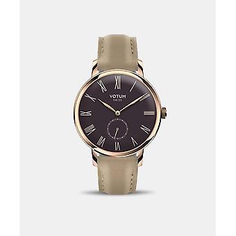 VOTUM - Reloj de señora - VINTAGE SMALL - VINTAGE - V11.20.10.04 - correa de cuero - beige