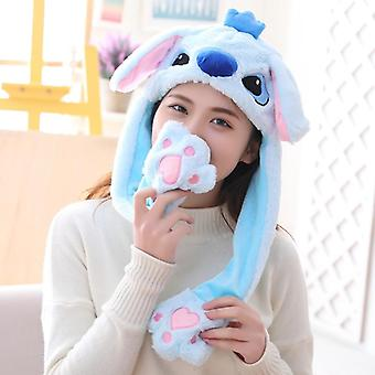 Fata plush mutarea urechi de iepure, Pălărie, Desen animat Stich Cap, Kids Party, Unicorn