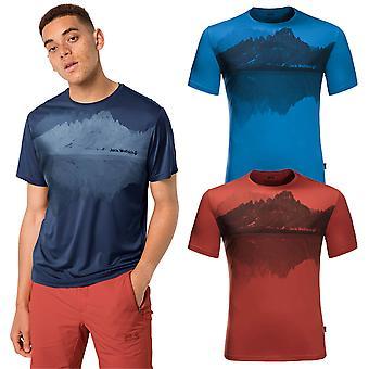 Jack Wolfskin 2021 Mens Peak Graphic Moisture Wicking Soft T-Shirt