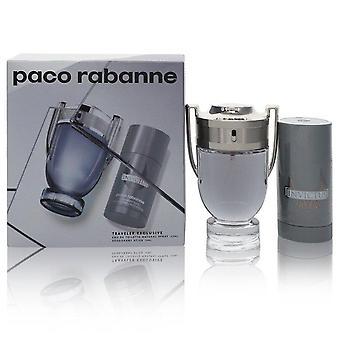 Invictus Gift Set By Paco Rabanne 3.4 oz Eau De Toilette Spray + 2.5 oz Deodorant Stick
