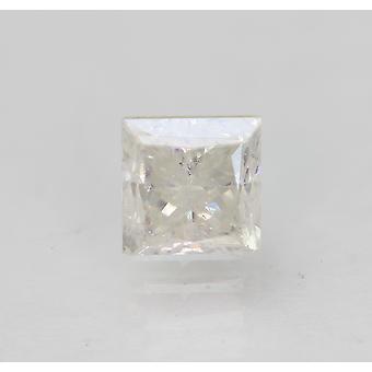 Certified 0.67 Carat F SI2 Princess Enhanced Natural Diamond 4.38x4.37mm 2VG