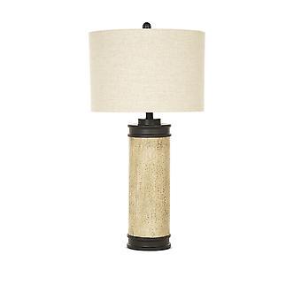 Conjunto de 2 corcho rústico look lámpara de mesa marrón bruñido