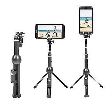 2 Dans 1 trépied portable pliable de bâton de selfie de téléphone