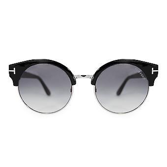 Tom Ford Alissa Round Sunglasses FT 0608 01B 54