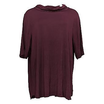 Cuddl Duds Women's Top Plus Softwear Stretch Cowl Neck Purple A381796