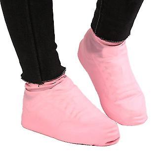 زوج من المطر اللاتكس للماء القابل لإعادة الاستخدام وأغطية غير زلة للأحذية.