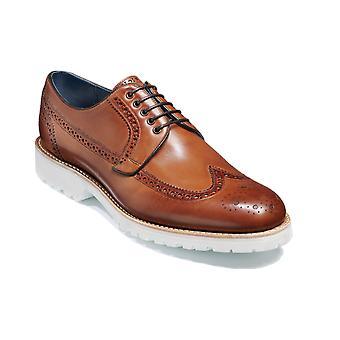 Barker Hawk - Ebony handmålade | Mens Handgjorda läder Derby | Barker Skor