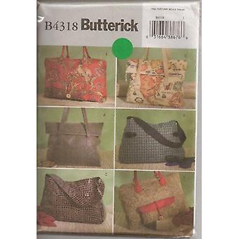 Butterick Syning Mønster 4318 Håndtaske Taske Store totes