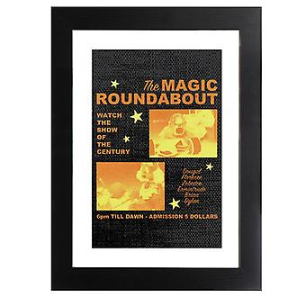 The Magic Roundabout Retro Show Poster Framed Print