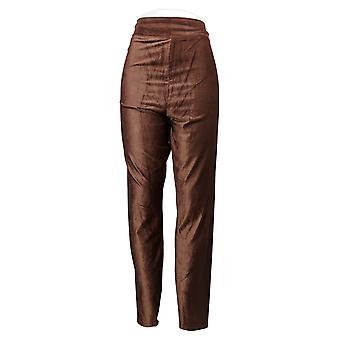 Cuddl Duds Women's Leggings Corduroy Stretch Brown A384372