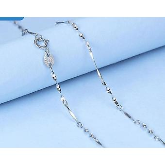 Sterling Water-wave Snake Box Chains For Woman Chain Necklace