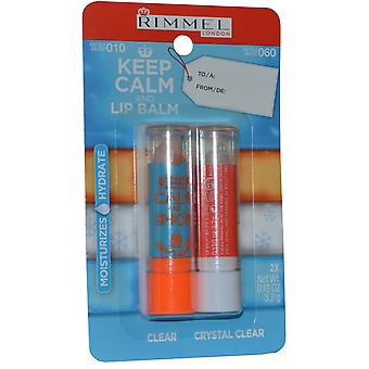 Rimmel London Keep Calm and Lip Balm Lip Balm Duo Pack 3.7g Clear and 3.7g Crystal Clear