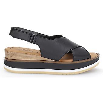 Sort casual kile sandaler