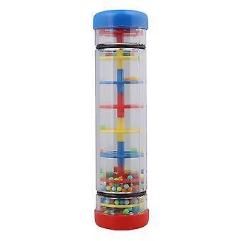 Milticolor Kunststoff 7,8 Zoll Regenmacher Tube Shaker Kinder Musik sensorische Spielzeug