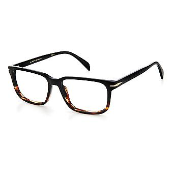 David Beckham DB1022 37N Black Horn Glasses