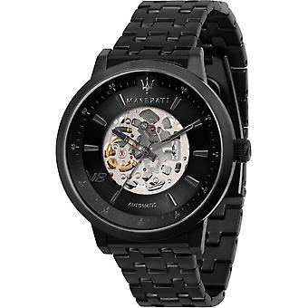 Maserati R8823134003 Men's Granturismo Automatic Black Steel Bracelet Wristwatch