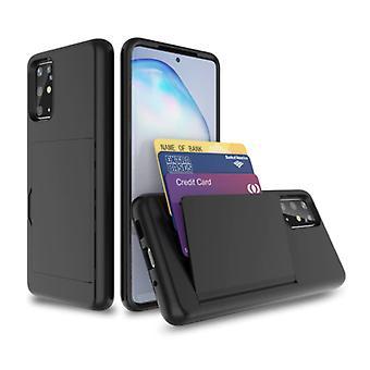 VRSDES Samsung Galaxy Note 20 Ultra - Funda de la cubierta de la ranura de la tarjeta cartera caja de la caja del negocio negro