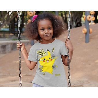 Pokemon Flickor Pika Pika Pikachu T-Shirt