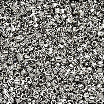 Miyuki Delica Seed Beads, 11/0 Size, 7.2 Grams, Palladium Plated DB038