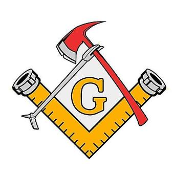 Masonic firefighter tools decal car stickers