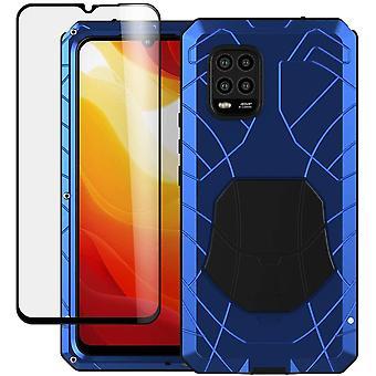FengChun für Xiaomi Mi 10 Lite 5G Hülle, Robuste Case Metall-Rüstung + Weiches Silikon Bumper
