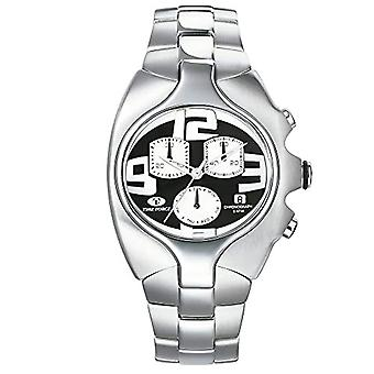 Time Force Men's Quartz Chronograph Clock with Stainless Steel Strap TF2640M-04M-1