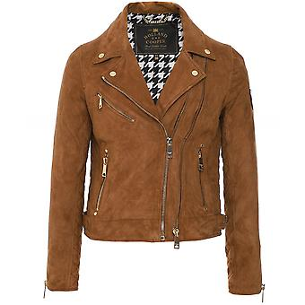 Holland Cooper Suede Biker Jacket