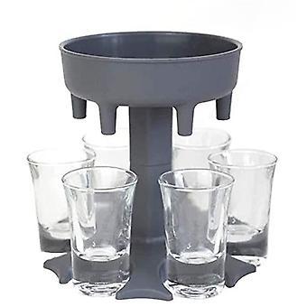 Vin Whisky Öl 6 Shot Glass Dispenser Holder Dispenser Rack Bar Tillbehör Caddy Liquor Dispenser Party Spel Drickverktyg