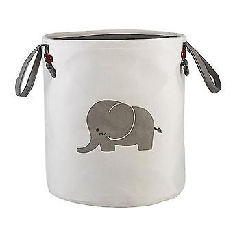 Foldable Round Home Organizer Cotton Storage Baskets Bag |Foldable Storage Bags