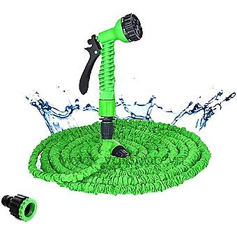 Green 50ft expandable hoses pipe with spray gun for garden watering car wash kit 25ft-175ft cai1497