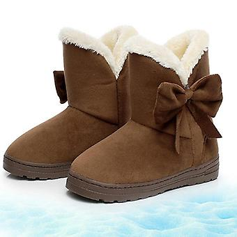Women Boots, Winter Warmer Plush Slip On Ankle Boots
